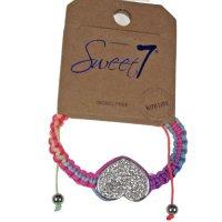 Sweet7 Nickel free gevlochten armband