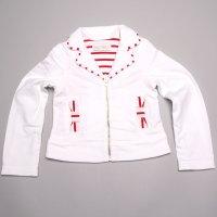 Vest wit met rood