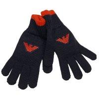 Handschoenen grijs met oranje