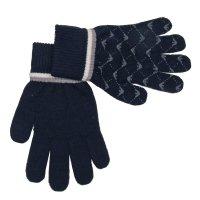 Handschoenen logo navy met grijs