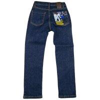 Jeans dark wassing met opdruk Donald op kontzak