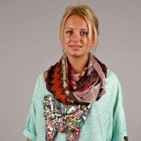 Sjaal zigzag red colletje