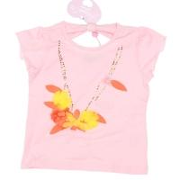 T-shirt ketting met bloemen Pink fairy
