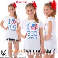 T-shirt Big Apple wit