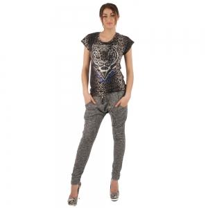 Glamorous Shirt tijger print magic grijs