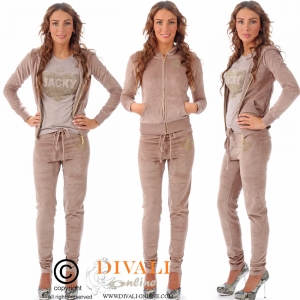 Jacky Luxury Joggingpak velour taupe