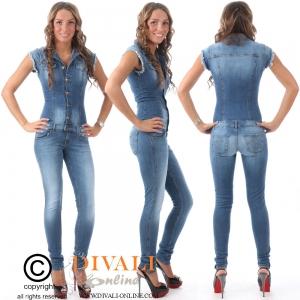 MET InJeans Jumpsuit Belleza rafels blue
