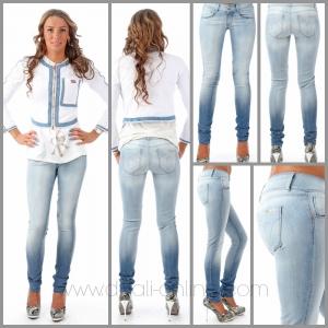 MET InJeans Skinnyjeans H-Angel vale wassing tye dye effect