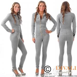 MET InJeans Jumpsuit Bel Joggingstof grijs