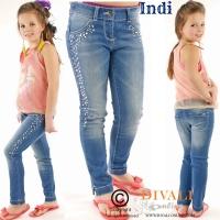Skinny jeans steentjes dark blue