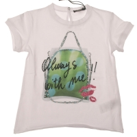T-shirt Always with me - optical white