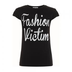 Nikkie By Nikkie Plessen T-shirt Fashion victim zwart