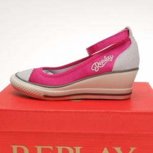 Replay Open Wedge sneaker Narberth fuchsia