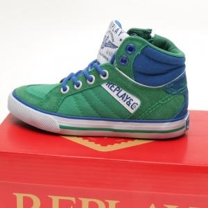 Replay Gymp Haverford groen met blauw
