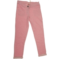 Pantalon joggingstof roze