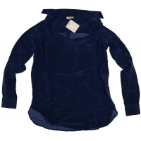 B.Loved Blouse Silk Patriot blue