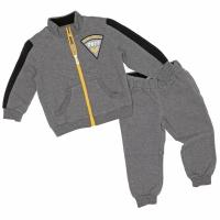 Joggingpak grijs met zwarte en gele details