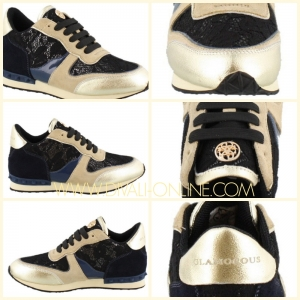 Glamorous Sneaker Incognito Lace blue-beige