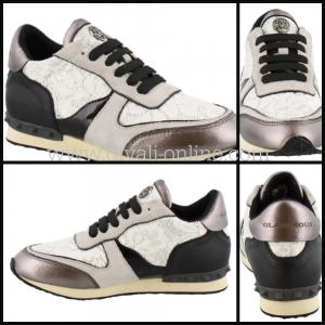 Glamorous Sneaker Incognito Lace Black-white Valentino lookalike