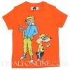 T-shirt Muis en kat Oranje
