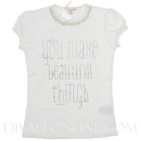 Silvian Heach Tshirt Bigazzi White You Make Beautifull Things
