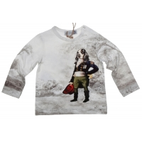 Hitch-Hiker by Monnalisa Longsleeve Sir Spaniel Offwhite