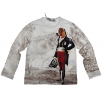 Hitch-Hiker by Monnalisa Longsleeve Sir Beagle Offwhite