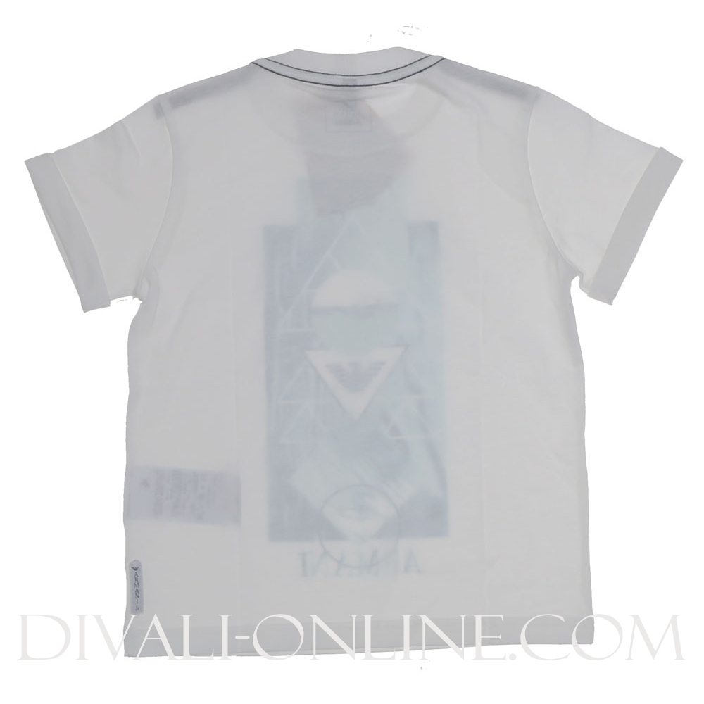 T-shirt Water Print White