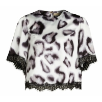 JoshV Top Amaya Leopard Grey
