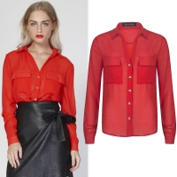 Lofty Manner Blouse Dixie red