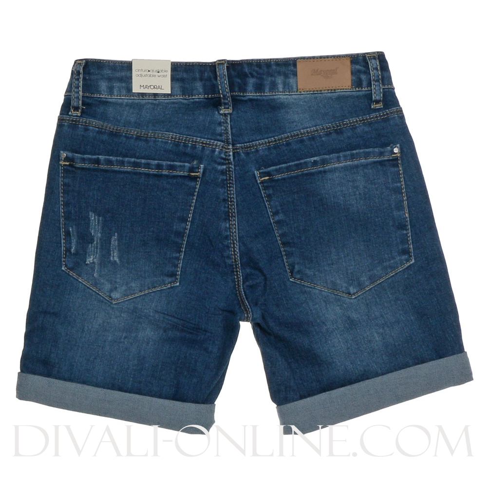 Denim short patches
