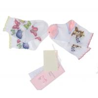Monnalisa Set 2 paar Sokken Bunny Butterfly White
