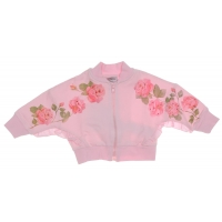 Monnalisa Joggingvest Roses Pink