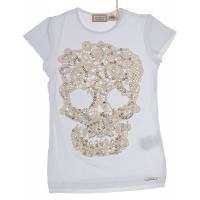 MET InJeans Kids T-shirt Skull Tary White