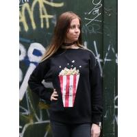 Reinders Popcorn sweater zwart