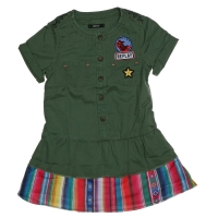 Replay Dress Green Met Patches