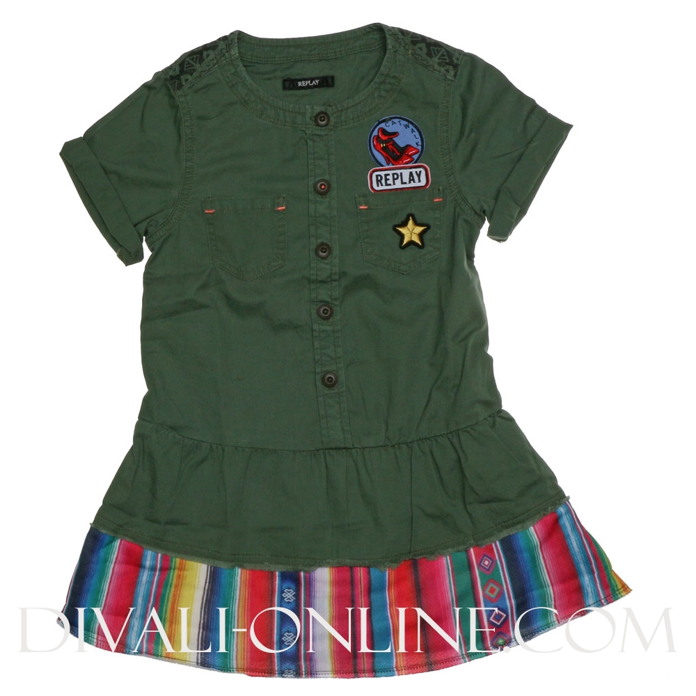 Dress Green Met Patches