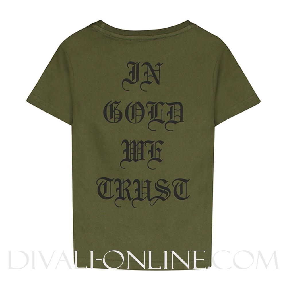 T-shirt print Green