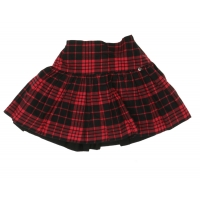 Miss Grant Geruite Rok Black-red