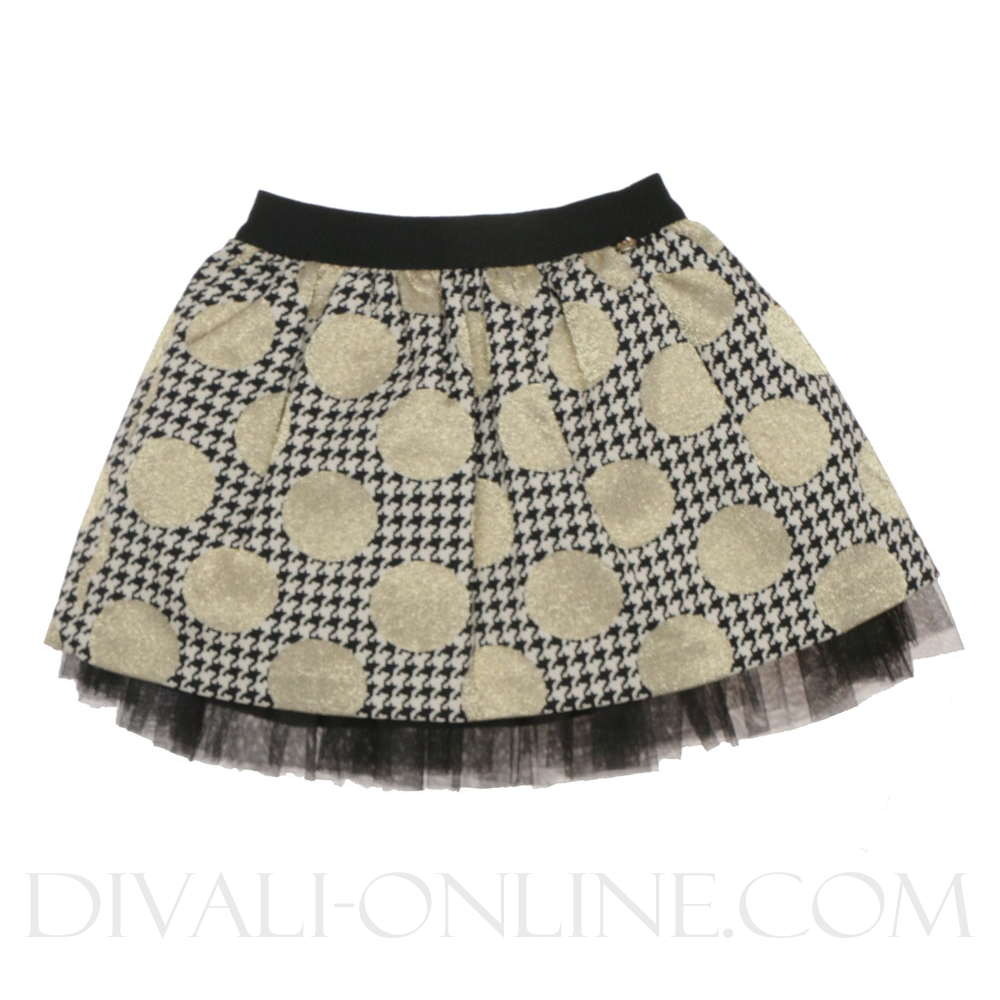 Rok Pied a poule Dot Black -gold