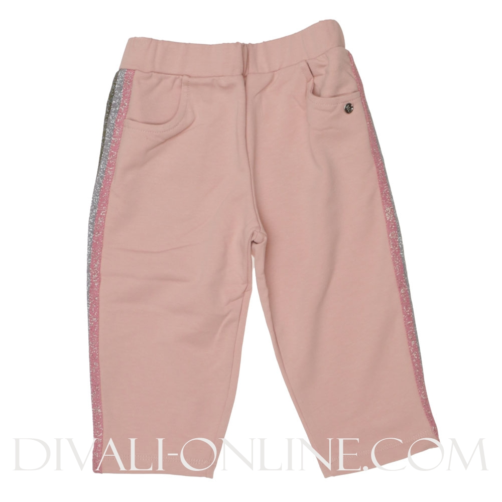 Joggingbroek Paillet lurex stripes Pink