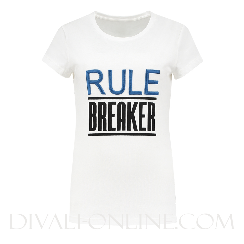 T-shirt Rule Breaker White