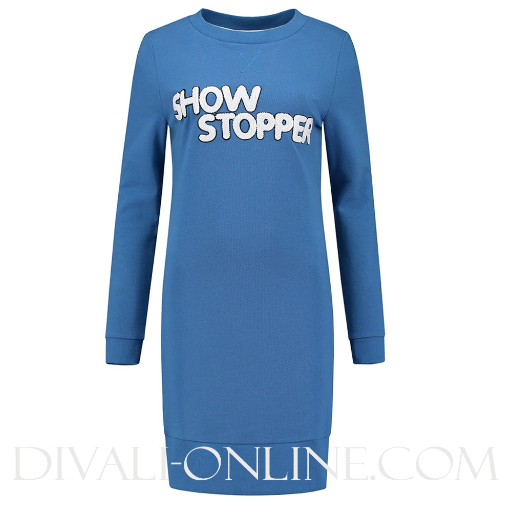 Sweaterdress Show Stopper Morning Blue