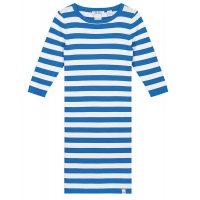 Dress Jolie Cobalt Blue Offwhite Stripe