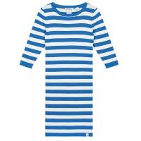 Dress Jolie Cobalt Blue Offwhite Stripe