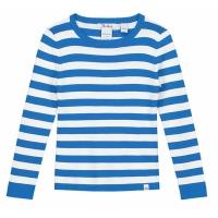 Top Jolie Cobalt Blue Offwhite Stripe