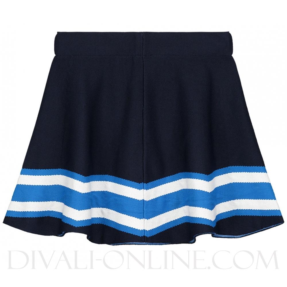 Skirt Indie Dark Blue Stripes