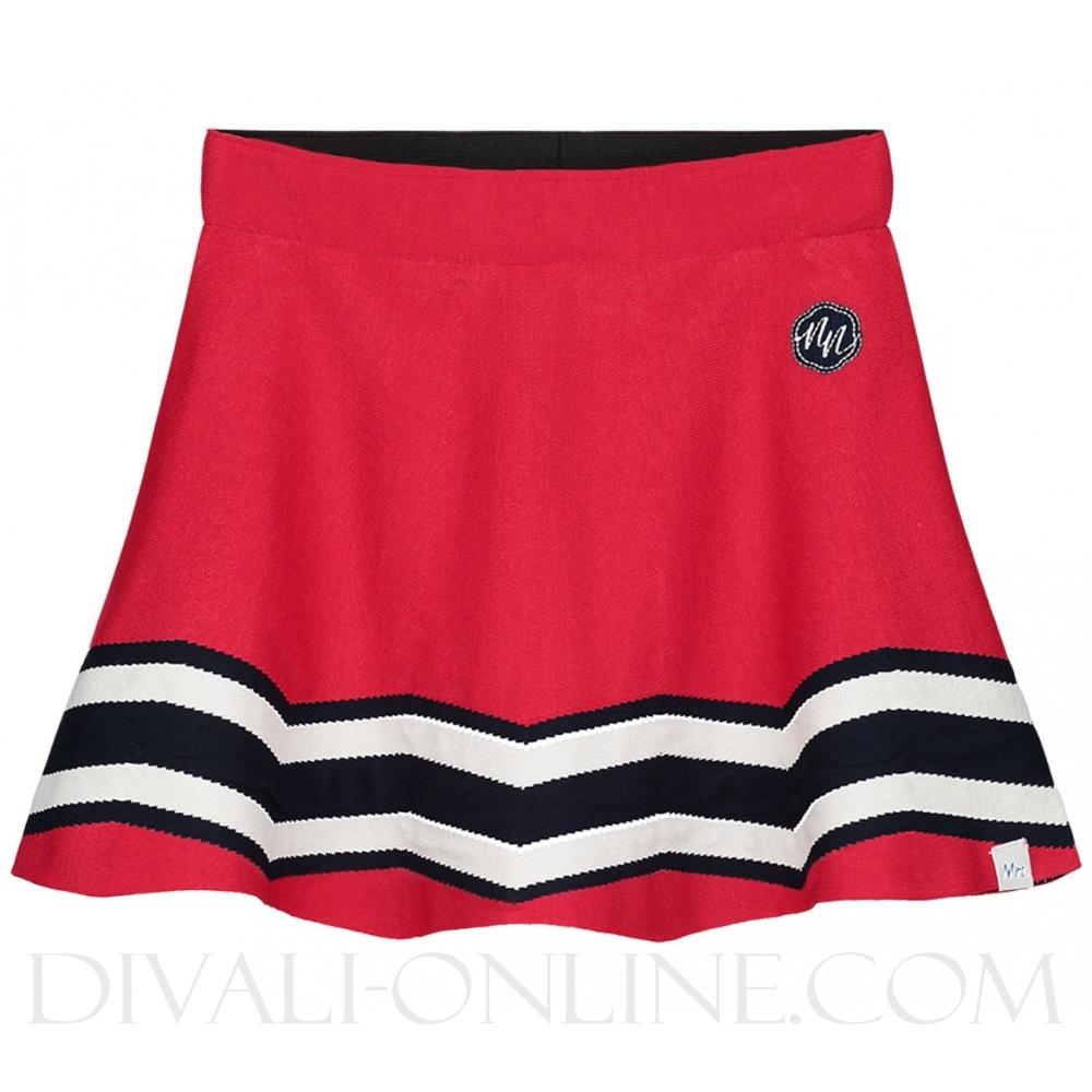 Skirt Indie Poppy Red Stripes