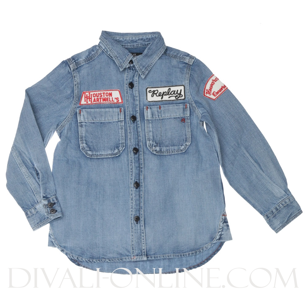 Denim Blouse Buttons