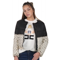 Elisabetta Franchi Girls Jacket Black Dots